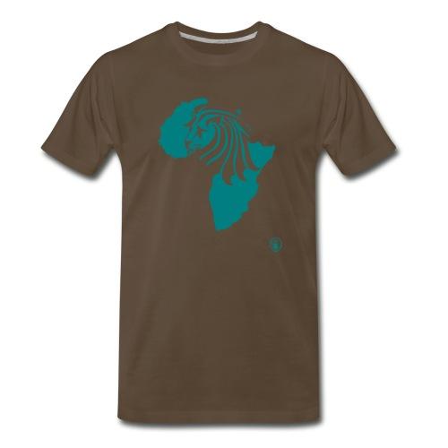 Lion Head Africa Teal - Men's Premium T-Shirt