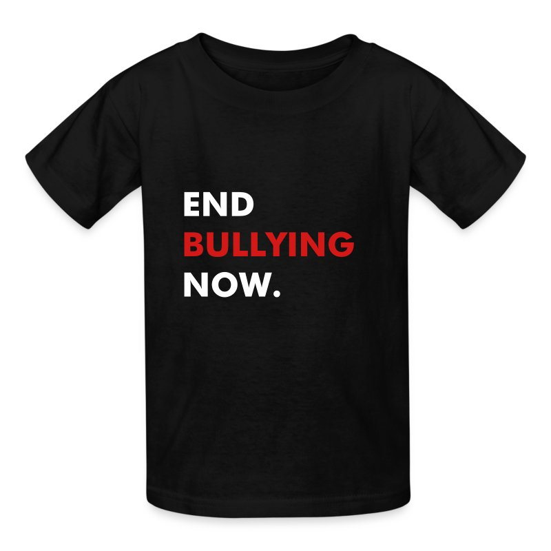 END BULLYING NOW - WHITE & RED FLEX/FUTURA FONT - Kids' T-Shirt