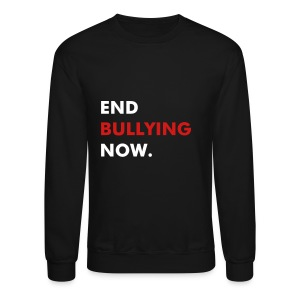 END BULLYING NOW - WHITE & RED FLEX/FUTURA FONT - Crewneck Sweatshirt