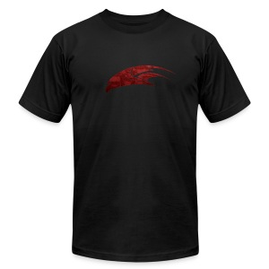 The Hawk - Digital Red (Men's) - Men's Fine Jersey T-Shirt
