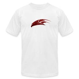 The Hawk - Digital Red (Men's) - Men's T-Shirt by American Apparel