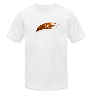 The Hawk - Digital Orange (Men's) - Men's T-Shirt by American Apparel