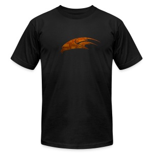 The Hawk - Digital Orange (Men's) - Men's Fine Jersey T-Shirt
