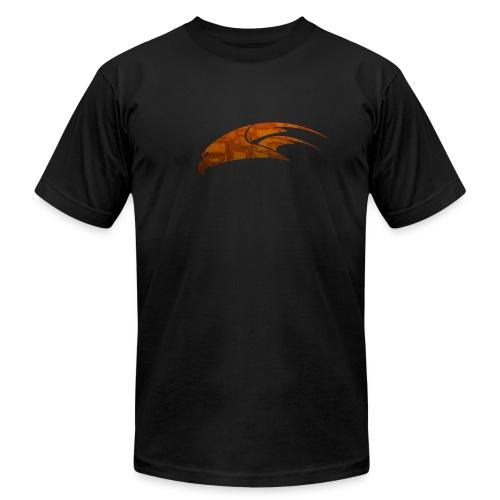 The Hawk - Digital Orange (Men's) - Men's Fine Jersey T-Shirt