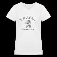 T-Shirts ~ Women's V-Neck T-Shirt ~ Prague - Czech it out.