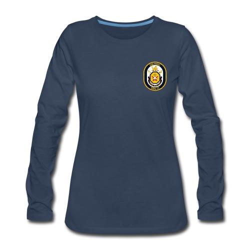 USS ROSS DDG-71 LONG SLEEVE - WOMENS - Women's Premium Long Sleeve T-Shirt