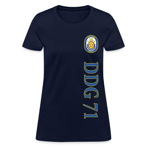 USS ROSS DDG-71 VERTICAL STRIPE TEE - WOMENS - Women's T-Shirt