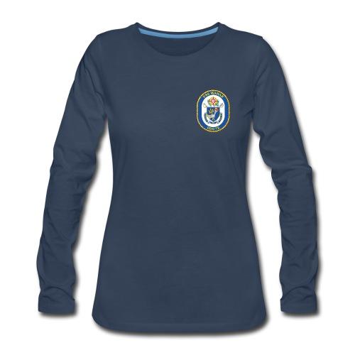USS MAHAN DDG-72 LONG SLEEVE - WOMENS - Women's Premium Long Sleeve T-Shirt