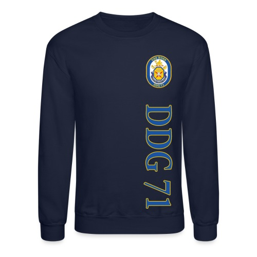 USS ROSS DDG-71 VERTICAL STRIPE SWEATSHIRT - Crewneck Sweatshirt