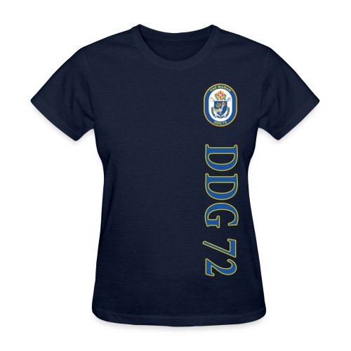 USS MAHAN DDG-72 VERTICAL STRIPE TEE - WOMENS - Women's T-Shirt