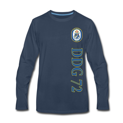 USS MAHAN DDG-72 VERTICAL STRIPE LONG SLEEVE - Men's Premium Long Sleeve T-Shirt