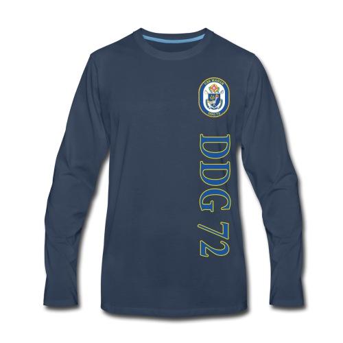 USS MAHAN DDG-72 VERTICAL STRIPE LONG SLEEVE - Men's Premium Long Sleeve T-Shirt