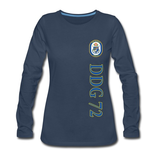 USS MAHAN DDG-72 VERTICAL STRIPE LONG SLEEVE - WOMENS - Women's Premium Long Sleeve T-Shirt
