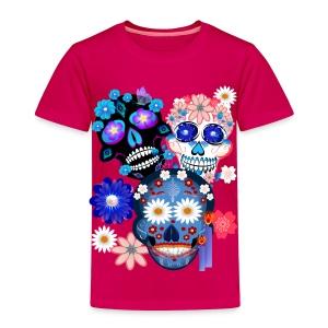 Day Of The Dead-3 Skulls - Toddler Premium T-Shirt