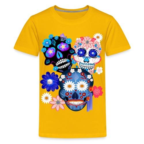 Day Of The Dead-3 Skulls - Kids' Premium T-Shirt