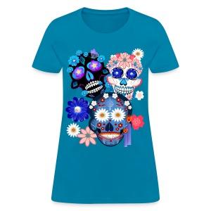 Day Of The Dead-3 Skulls - Women's T-Shirt