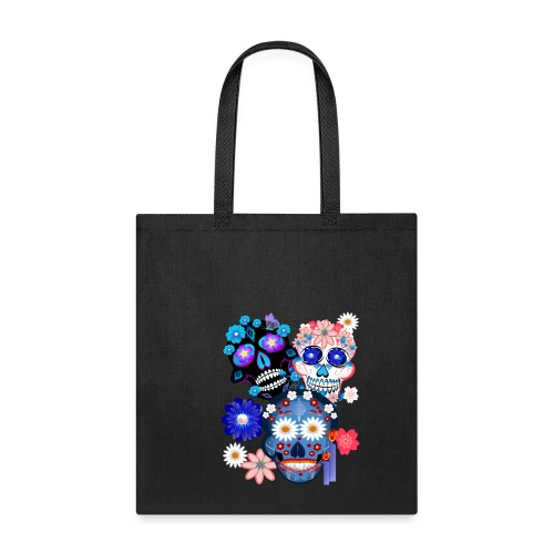 Day Of The Dead-3 Skulls - Tote Bag