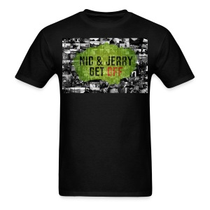 NJ Get OFF Postcard Design - Men's T-Shirt