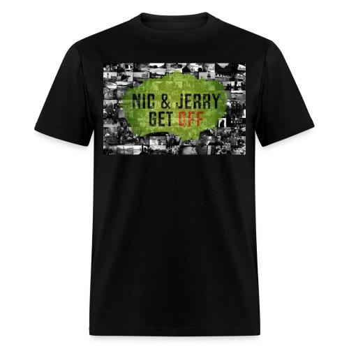 NJ Get OFF Postcard Design - Men's T-Shirt