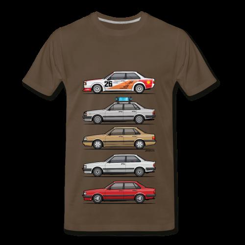Stack of Four Rings 80 B2 - Men's Premium T-Shirt