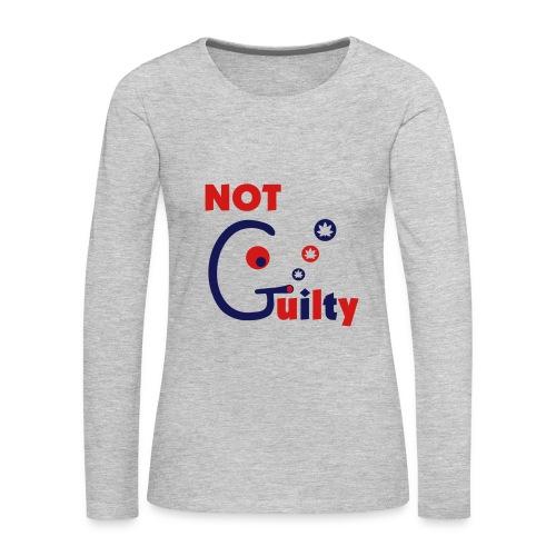 Not Guilty - Women's Premium Long Sleeve T-Shirt