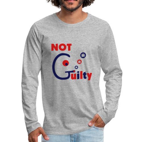 Not Guilty - Men's Premium Long Sleeve T-Shirt