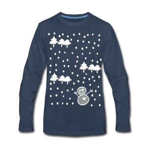 Let it snow Christmas Men's Premium Long Sleeve T-Shirt - Men's Premium Long Sleeve T-Shirt