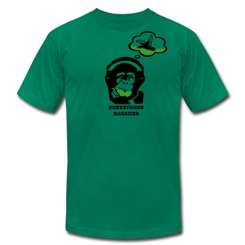MONKEYGOOSE (Kelly Green Men's Tee) - Men's Fine Jersey T-Shirt
