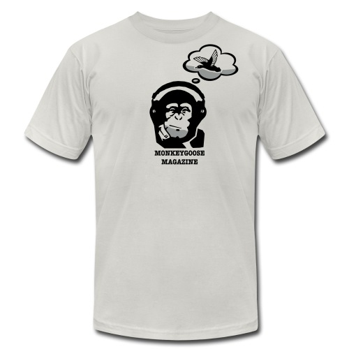 MONKEYGOOSE (Silver Men's Tee) - Men's Fine Jersey T-Shirt