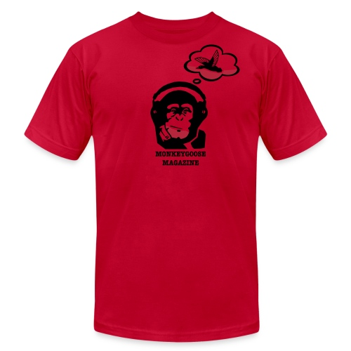 MONKEYGOOSE (Red Men's Tee) - Men's Fine Jersey T-Shirt