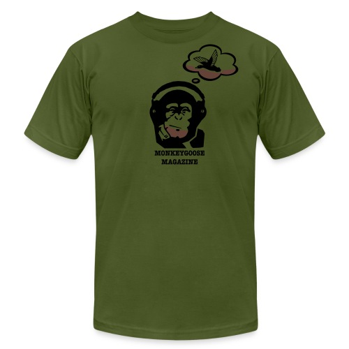 MONKEYGOOSE (Marine Green Men's Tee) - Men's Fine Jersey T-Shirt