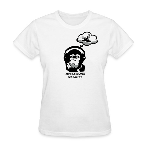 MONKEYGOOSE (White Women's Tee) - Women's T-Shirt