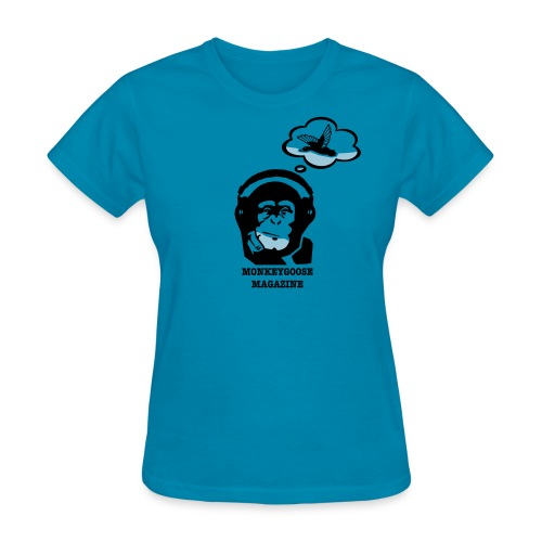 MONKEYGOOSE (Turquoise Women's Tee) - Women's T-Shirt