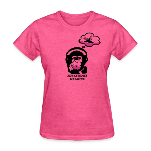 MONKEYGOOSE (Pink Women's Tee) - Women's T-Shirt