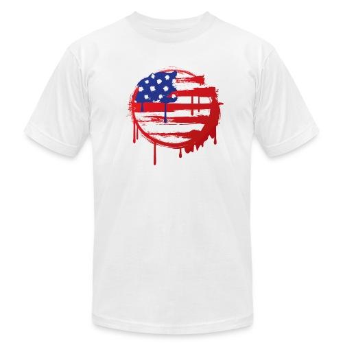 Grunge USA Flag - Men's  Jersey T-Shirt