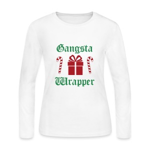 Gangsta Wrapper Christmas (Women) - Women's Long Sleeve Jersey T-Shirt