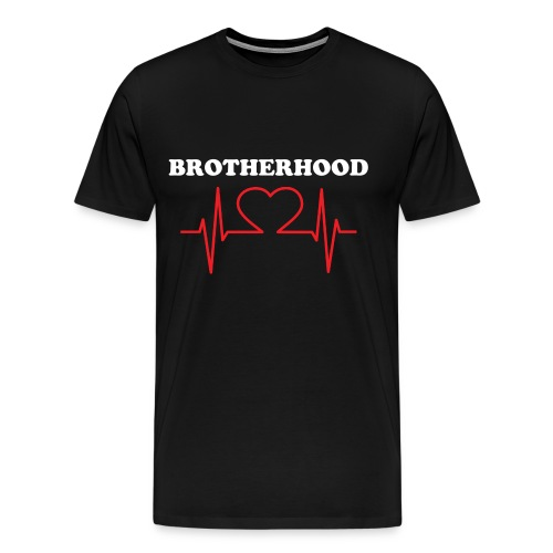 Only One Heart Brotherhood blk/red/wht - Men's Premium T-Shirt