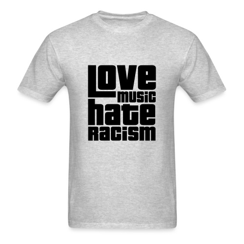 Love Music Hate Racism (Men) - Men's T-Shirt