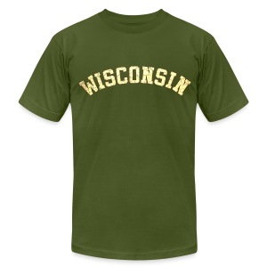 Wisconsin Distress - Men's T-Shirt by American Apparel