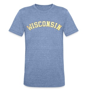 Wisconsin Distress - Unisex Tri-Blend T-Shirt by American Apparel