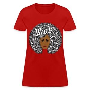 Natural Hair Round Afro Art for Black Women - Women's T-Shirt