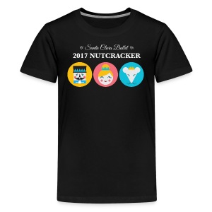 Kids' Premium T-Shirt 2017 Nutcracker Trio White Lettering - Kids' Premium T-Shirt