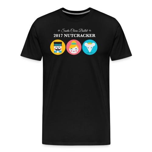 Men's Premium T-Shirt 2017 Nutcracker Trio White Lettering - Men's Premium T-Shirt