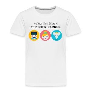 Toddler Premium T-Shirt 2017 Nutcracker Trio Black Lettering  - Toddler Premium T-Shirt