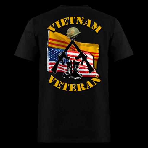 Vietnam Veteran Flags m16's boots helmet - Men's T-Shirt