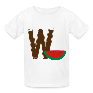 W Watermellon - Kids' T-Shirt