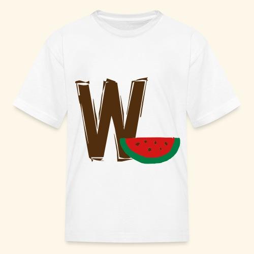 W Watermellon - Kids' T-Shirt