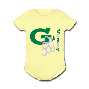 G Grapes Yummy - Short Sleeve Baby Bodysuit
