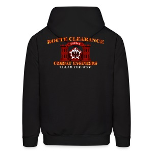 555th En Bde - RC Sapper Back Only - Men's Hoodie