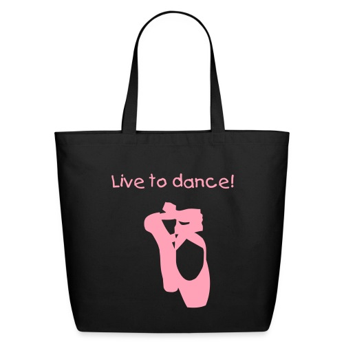 Ladies black dance tote - Eco-Friendly Cotton Tote